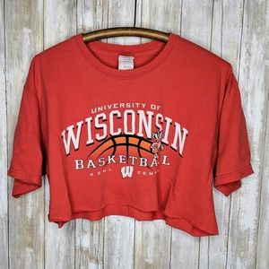 Wisconsin Badgers Basketball Cropped T-shirt Red